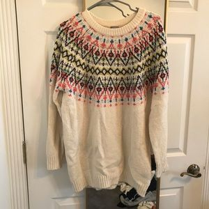 Fair Isle Tunic Sweater